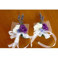 Buy cheap Silk White and Purple Napkin Rings from wholesalers