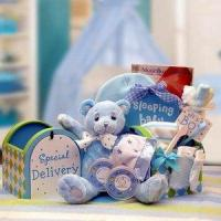 Wholesale Gift Basket Drop Shipping 890512-Blue A Special Delivery New Baby Gift set - Blue from china suppliers