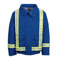 Wholesale Flame Resistant 5.3 oz Lined Bomber Jacket with Reflective Trim (JNJT) from china suppliers