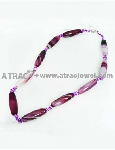 Quality 2011 cool long purple agate necklace for sale