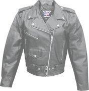 Wholesale Ladies Basic Classic Cowhide Motorcycle Jacket - Sizes XS to 5XL from china suppliers