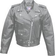 Quality Ladies Basic Classic Cowhide Motorcycle Jacket - Sizes XS to 5XL for sale