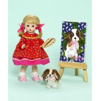 Buy cheap Painting My Puppy 8-inch Collectible Doll with Puppy and Easel from wholesalers