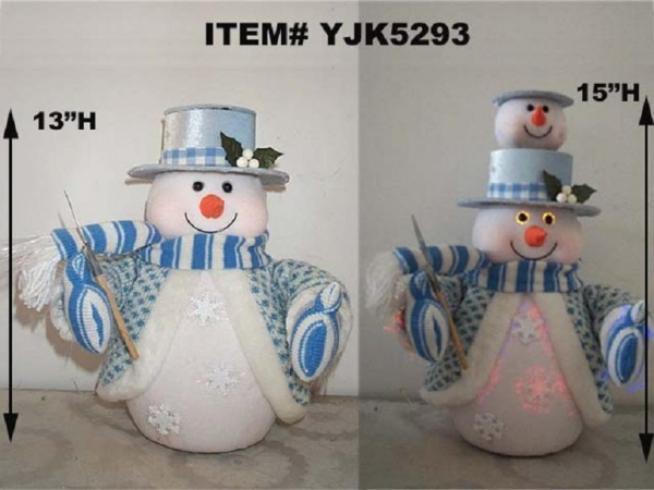 Quality MUSICAL FIBER OPTIC SNOWMAN for sale