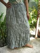 China Fair Trade 100% Cotton Crinkle Skirt from Thailand on sale