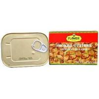 China Flower Brand Smoked Oysters 3.66oz. on sale