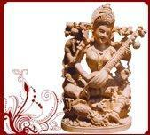 Wholesale Handcarved Goddess Saraswati statues from china suppliers