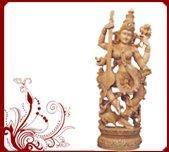 Wholesale Devi Saraswati Wood Figures from china suppliers