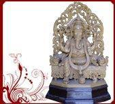 Buy cheap Wood carved prabhavali ganesha statue from wholesalers