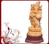 Wholesale Handmade wooden Ganesha statue from china suppliers