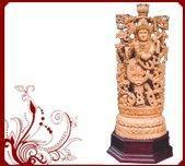Wholesale Wooden Temple Statue Of Krishna from china suppliers