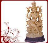 Wholesale Wooden Lakshmi Statue Sculptures from china suppliers