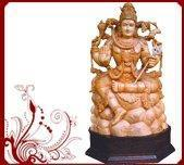 Wholesale Indian Wood Carved Shiva Idol from china suppliers