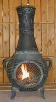 Wholesale Gas Chimineas Pine Chiminea Outdoor Fireplace w/Gas[ALCH015GK] from china suppliers