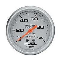 China Gauges & Pods Silver Series Fuel Pressure Gauge by Auto Meter on sale