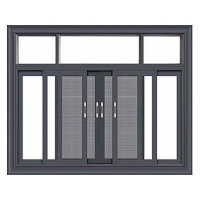 Wholesale Aluminum Alloy Sliding Double Glass Window from china suppliers