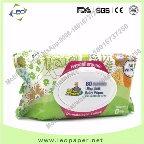 China China Supplier Unscented soft Cleansing Baby Wet Wipes