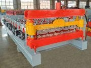 China Metal stainless steel widen 840 roof sheet roll forming machine