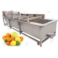 Wholesale Commercial Use Fruit Washing Machine|Citrus Cleaning Machine from china suppliers