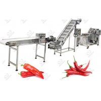 Buy cheap Automatic Chili Pepper Washing Drying Machine Line from wholesalers