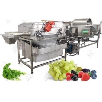 Wholesale Vortex Type Salad Leaves Washing Process Machine from china suppliers