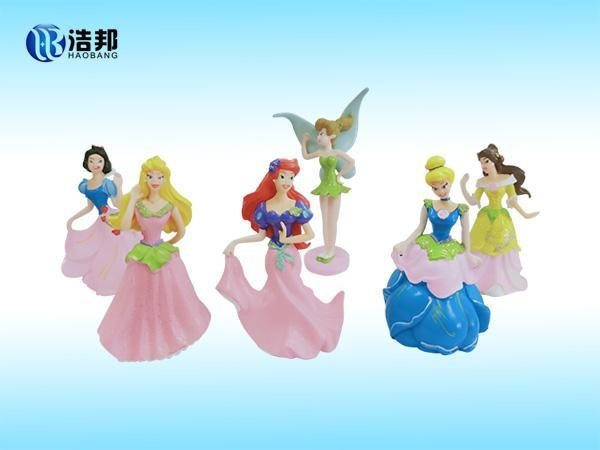 China Snow-White-figure-with-glliter