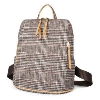 Wholesale Retro and simple lattice girls shoulders bag women backpack CLN18-106 from china suppliers