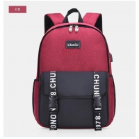 Wholesale New Stylish Zippered Backpack with External USB Port 6388 from china suppliers