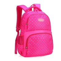 Wholesale Beautiful Dot Printed Girls Boys Chindren School Backpack 6380 from china suppliers