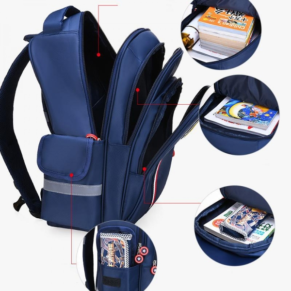 China Promotion Striped Nylon School Bag Backpack 6387