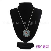 China Sublimation Photo Jewelry Necklace Blank Pendant Sublimation For Personalizd Gifts R03 on sale