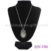 China Personalize Gifts Sublimation Metal Necklaces Blank Photo Sublimation Printing Jewelry V04 on sale