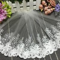 China 25cm Width Lace Manufacturers Selling Cotton Embroidery Curtain Lace Trim 720585# on sale