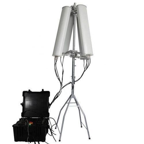 China 600W 4-8bands High Power Cell Phone GPS WiFi 2.4G 5.8G Drone Signal Jammer up to 2500m