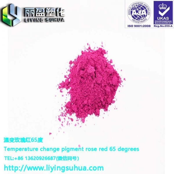 China rose red thermochromic toner pigment