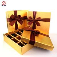 Wholesale Top & bottom art paper divider private design wholesale handmade luxury custom gold favor/candy from china suppliers