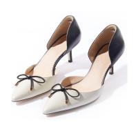 Wholesale Women Shoes New design butterfly knot point thin heel shoes lady pump shoes YB4056 from china suppliers