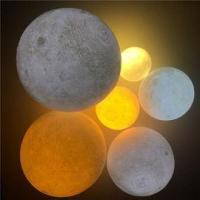 Buy cheap 3D Print Moon Lamp USB Rechargeable 2 Color Touch Control Bedroom Adjustable Night Light from wholesalers