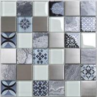 China Antique Pattern Design Crystal Glass Moroccan Mosaic Tile For Kitchen Decoration Wall on sale