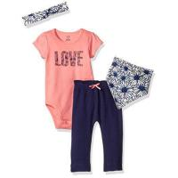 Touched by Nature Baby Organic Layette Set 4-Piece, Daisy, 0-3 Months