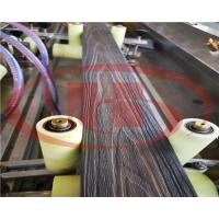 China WPC decking machine with online embossing on sale
