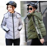 Wholesale Cotton-padded jacket short style slim collared down padded jacket from china suppliers
