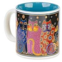 Wholesale Office-Travel Laurel Burch Artistic Mug Collection -Feline Family Portrait from china suppliers