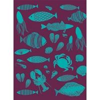 Wholesale Office-Travel French Artists Club - Kitchen Woven Towel- Fishing from china suppliers