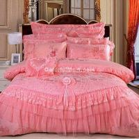 China Being In Full Flower Pink Bedding Set Princess Bedding Girls Bedding Wedding Bedding Luxury Bedding on sale