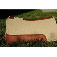 Wholesale Horse equipment 1 inch thick pressed contoured western wool felt saddle pad for horses from china suppliers