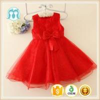 China good quality embroidered girls party red dresses, kids dress birthday gift,flower girl dress floral on sale