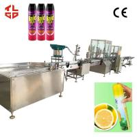 Automatic Bacteria Remover Spray Filling Machine / Insecticide Aerosol Filling Equipment for sale