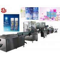 High Speed Automatic Aerosol Can Filling Machine For Snow Spray / Party String for sale