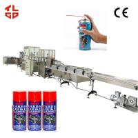 Automatic Engine Cleaner Aerosol Spray Filling Machine with Pneumatic Drive for sale